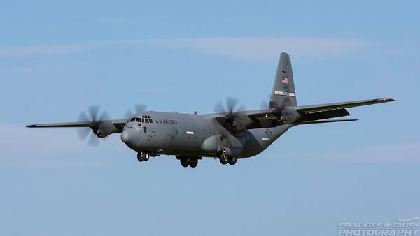06-8612. Lockheed Martin C-130J Hercules. USAF. Prestwick. 100518.