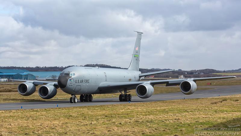 62-3577. Boeing KC-135R Stratotanker. USAF. Prestwick. 180318.