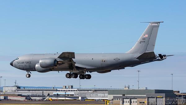 60-0339. Boeing KC-135R Stratotanker. USAF. Prestwick. 040718.