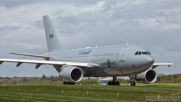 15002. Airbus CC-150 Polaris. Canadian Air Force. Prestwick. 100518.