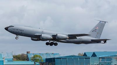 58-0066. Boeing KC-135R Stratotanker. USAF. Prestwick. 100518.