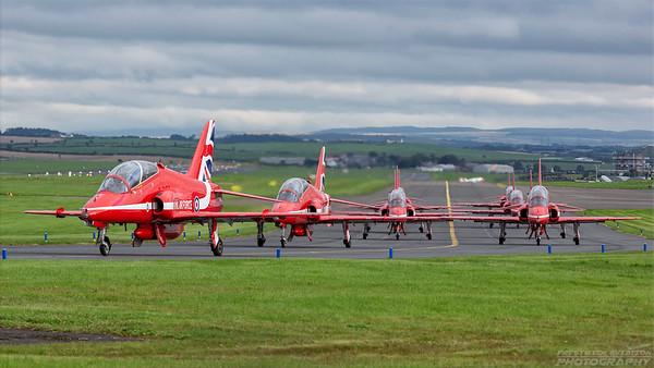 XX323. British Aerospace Hawk T1. RAF. Prestwick. 020918.