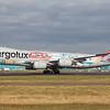 LX-VCM. Boeing 747-8R7F/SCD. Cargolux. Prestwick. 080318.