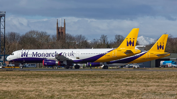 G-OZBG. Airbus A321-231. Monarch Airlines. Prestwick. 050418.
