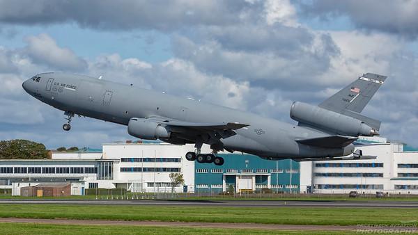 87-0123. McDonnell Douglas KC-10A Extender. USAF. Prestwick. 250818.