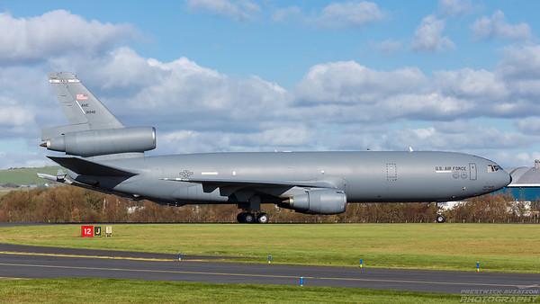 79-1946. McDonnell Douglas KC-10A Extender. USAF. Prestwick. 061018.