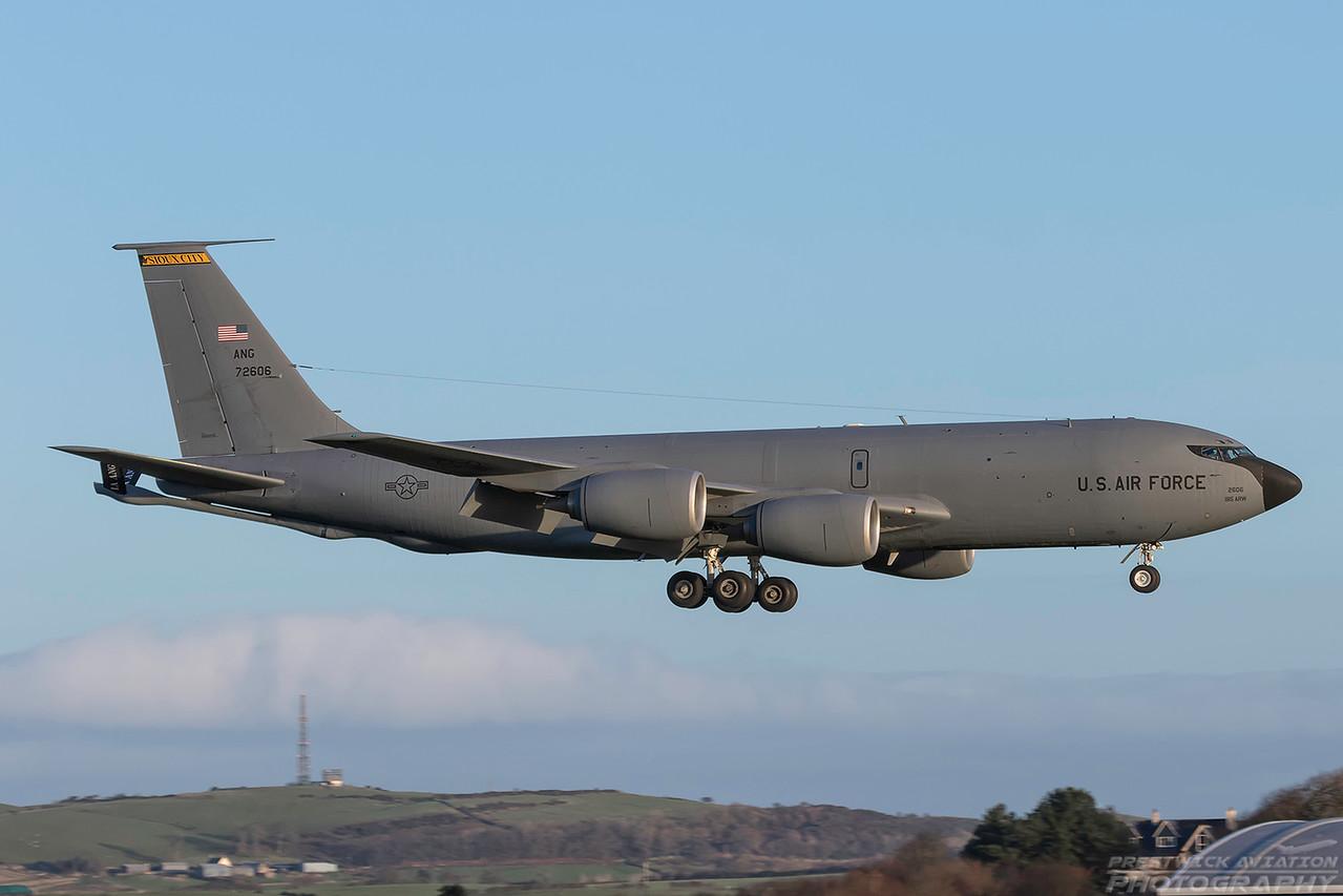 57-2606. Boeing KC-135R Stratotanker. USAF. Prestwick. 060118.