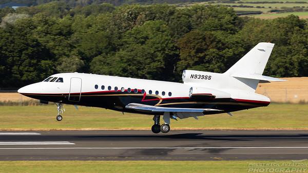 N939SS. Dassault Falcon 900. Private. Prestwick. 090718.