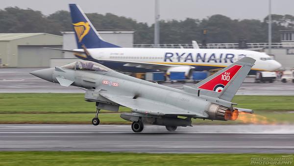 ZK318. Eurofighter EF-2000 Typhoon FGR4. RAF. Prestwick. 010918.
