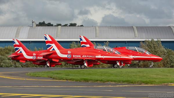 XX219.  British Aerospace  Hawk T1A. RAF. Prestwick. 020918.