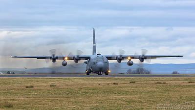 91-1235. Lockheed C-130H Hercules. USAF. Prestwick. 260218.