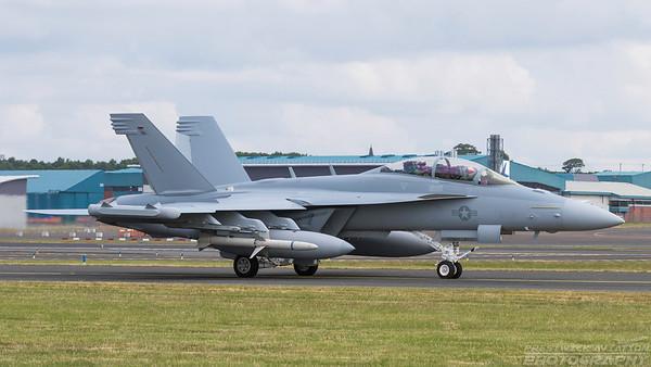 169215. Boeing EA-18G Growler. US Navy. Prestwick. 110618.