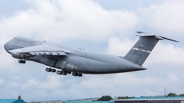 86-0024. Lockheed C-5M Super Galaxy. USAF. Prestwick. 110718.
