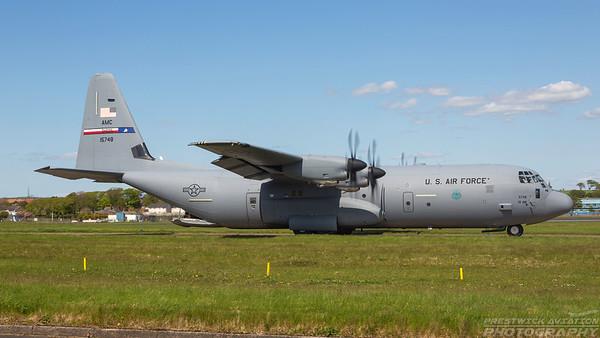 11-5748. Lockheed Martin C-130J-30 Hercules. USAF. Prestwick. 160518.