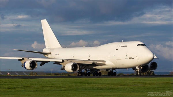 N473MC. Boeing 747-45E(BDSF). Atlas Air. Prestwick. 161018.