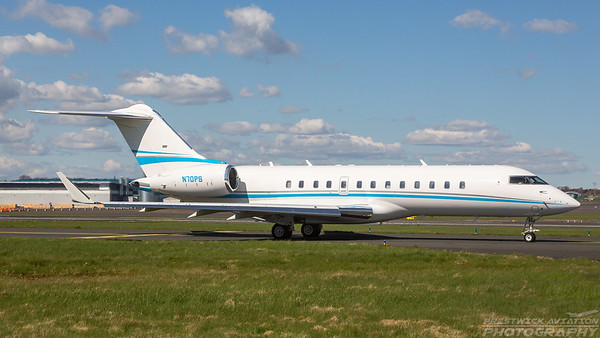N70PS. Bombardier Global 6000. Private. Prestwick. 300418.