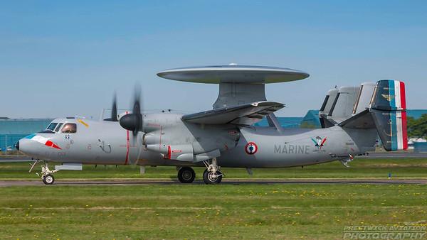 165455. Northrop Grumman E-2C Hawkeye. French Navy. Prestwick. 270518.