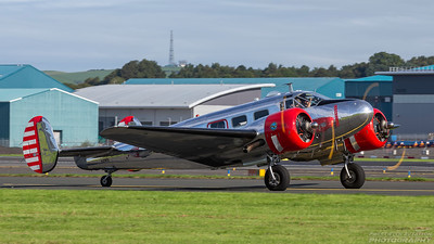 N21FS. Beech CT-128 Expeditor Mk.3NM. Private. Prestwick. 030918.