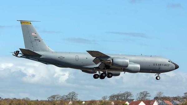 60-0365. Boeing KC-135R Stratotanker. USAF. Prestwick. 200418.