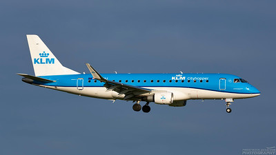 PH-EXJ. Embraer ERJ-175STD. KLM. Prestwick. 241118.