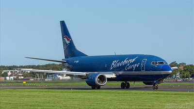 TF-BBG. Boeing 737-36E(BDSF). Bluebird Cargo. Prestwick. 030918.