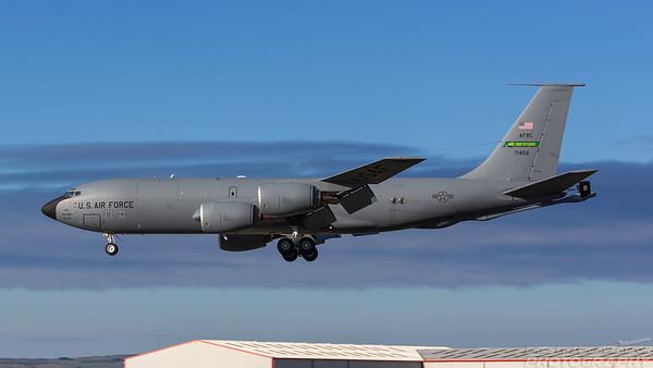 57-1456. Boeing KC-135R Stratotanker. USAF. Prestwick. 030718.