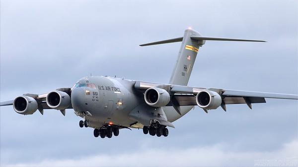 05-5151. Boeing C-17A Globemaster III. USAF. Prestwick. 241088.