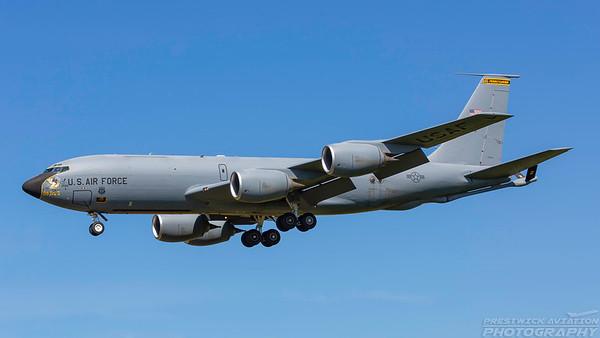 58-0099. Boeing KC-135R Stratotanker. USAF. Prestwick. 020718.