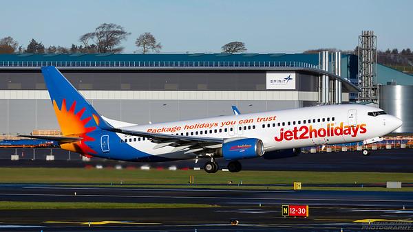 G-JZHE. Boeing 737-8K2. Jet2. Prestwick. 241218.