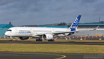 F-WXWB. Airbus A350-941. Airbus. Prestwick. 150218.