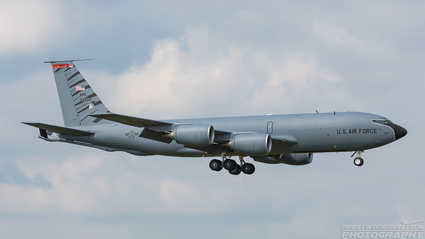 62-3544. Boeing KC-135R Stratotanker. USAF. Prestwick. 300518.
