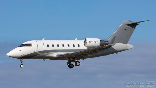 N515KS. Bombardier Challenger 605. Private. Prestwick. 040718.