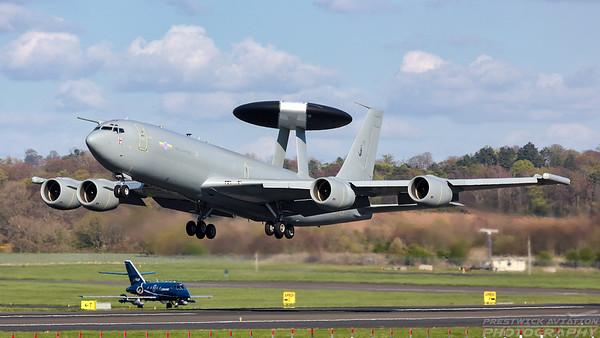 ZH101. Boeing E-3D Sentry AEW1. RAF. Prestwick. 300418.