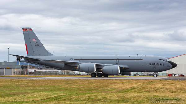 59-1458. Boeing KC-135R Stratotanker. USAF. Prestwick. 090718.
