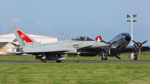 ZK318. Eurofighter EF-2000 Typhoon FGR4. RAF. Prestwick. 030918.