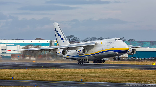 UR-82073. Antonov An-124-100 Ruslan. Antonov Design Bureau. Prestwick. 050318.