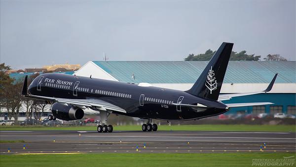 G-TCSX. Boeing 757-2K2. TAG Aviaton. Prestwick. 181018.