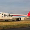 LX-VCF. Boeing 747-8R7F/SCD Cargolux. Prestwick. 230218.