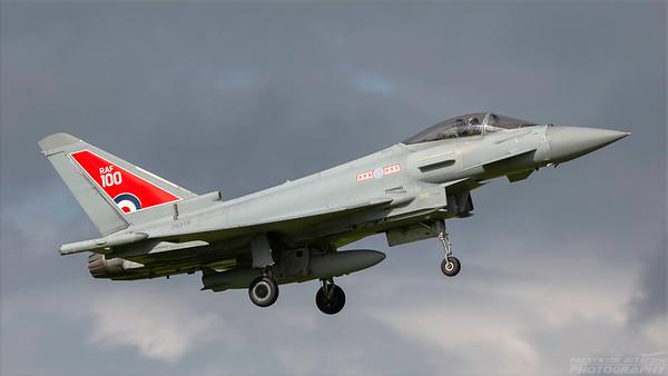 ZK318. Eurofighter EF-2000 Typhoon FGR4. RAF. Prestwick. 020918.