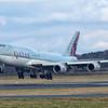 A7-HHE. Boeing 747-8K8(BBJ). Qatar Amiri Flight. Prestwick. 080318.