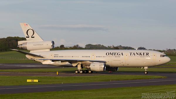 N974VV. McDonnell Douglas KDC-10-40I. Omega Air. Prestwick. 100518.