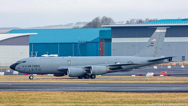 63-7984. Boeing KC-135R Stratotanker. USAF. Prestwick. 050318.