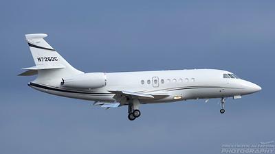 N726DC. Dassault Falcon 2000EX. Private. Prestwick. 050318.