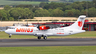 F-WWEN. ATR 72-600. Wings Air. Prestwick. 180718.