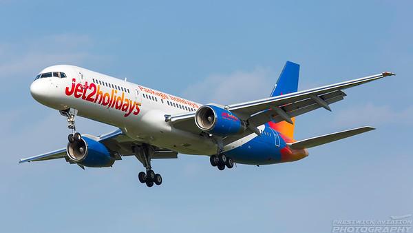 G-LSAD. Boeing 757-236/ER. Jet2. Prestwick. 070618.