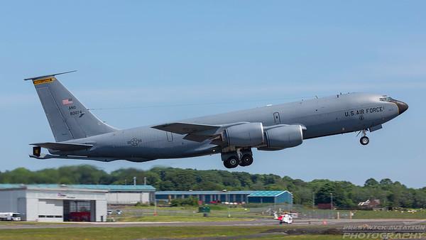 58-0074. Boeing KC-135T Stratotanker. USAF. Prestwick. 050618.