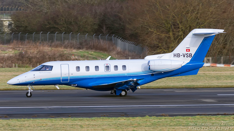 HB-VSB.  Pilatus PC-24. Private. Prestwick. 300118.