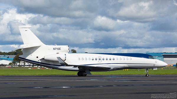 N71GE. Dassault Falcon 8X. Private. Prestwick. 060918.