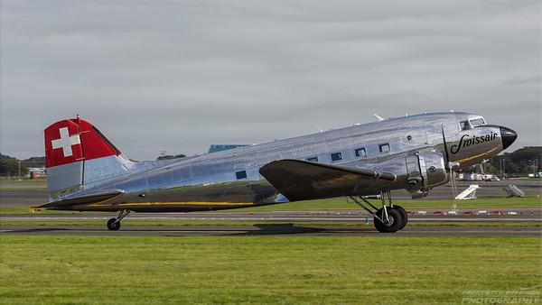 N431HM. Douglas DC-3C. Private. Prestwick. 030918.