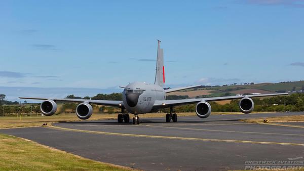 62-3511. Boeing KC-135R Stratotanker. USAF. Prestwick. 060718.